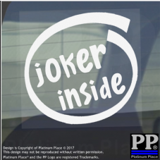 1 x Joker Inside-Window,Car,Van,Sticker,Sign,Vehicle,Adhesive,Batman,Comedian